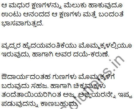 Dear Grandma and Grandpa Summary in Kannada 2