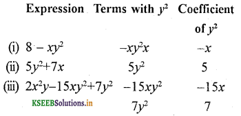 KSEEB Solutions for Class 7 Maths Chapter 12 Algebraic Expressions Ex 12.1 9
